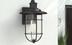Cherryville Black 13.58'' H Seeded Glass Outdoor Wall Lanterns
