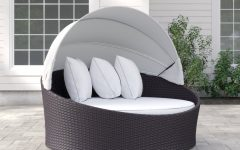 Brentwood Canopy Patio Daybeds with Cushions