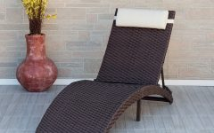 Brown Folding Patio Chaise Lounger Chairs