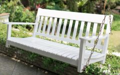 Casual thames White Wood Porch Swings