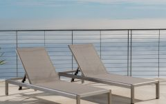 Cape Coral Outdoor Aluminum Mesh Chaise Lounges
