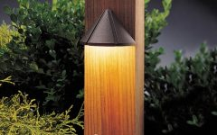 Contemporary Led Post Lights for Mini Garden