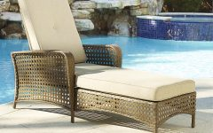 Cosco Outdoor Steel Woven Wicker Chaise Lounge Chairs