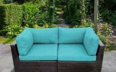 Camak Patio Loveseats with Cushions