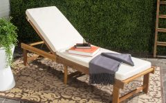 Outdoor Living Inglewood Brown Acacia Wood Beige Cushion Lounge Chairs