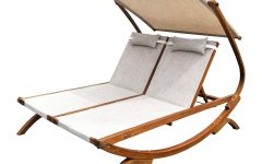 Double Reclining Lounge Chairs with Canopy