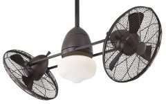 Dual Outdoor Ceiling Fans with Lights