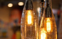 Making Outdoor Hanging Lights from Wine Bottles