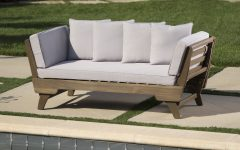 Ellanti Teak Patio Daybeds with Cushions