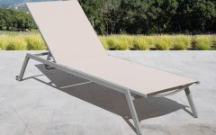 Fabric Reclining Outdoor Chaise Lounges