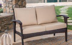 Hagler Outdoor Loveseats With Cushions