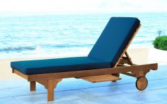 Outdoor Cart-wheel Adjustable Chaise Lounge Chairs