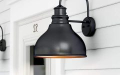 Ranbir Oil Burnished Bronze Outdoor Barn Lights with Dusk to Dawn