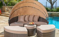 Behling Canopy Patio Daybeds with Cushions