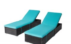 Outdoor Adjustable Rattan Wicker Chaise Pool Chairs with Cushions