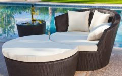 Outdoor Patio Lounge Chairs with Ottoman