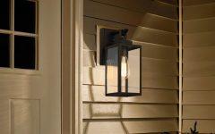 Ballina Matte Black 9.3'' H Outdoor Wall Lanterns with Dusk to Dawn