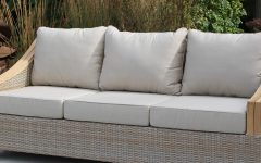 Kincaid Teak Patio Sofas with Sunbrella Cushions