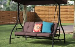 Canopy Patio Porch Swing with Stand