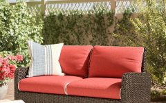 Provencher Patio Loveseats With Cushions