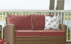 Lawson Wicker Loveseats with Cushions
