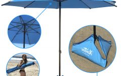 Leasure Fiberglass Portable Beach Umbrellas