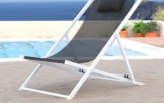 Sunset Patio Sling Folding Chairs with Headrest