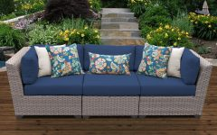 Meeks Patio Sofas with Cushions