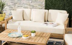 Montford Teak Loveseats with Cushions