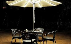 Lighted Umbrellas For Patio