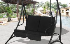2-person Black Steel Outdoor Swings