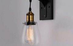 Rickey Matte Antique Black Wall Lanterns