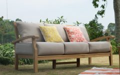 Summerton Teak Patio Sofas with Cushions