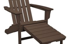 Mahogany Adirondack Chairs with Ottoman