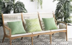 Jamilla Teak Patio Sofas with Cushion