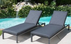 Navan Outdoor Aluminum Chaise Lounges with Cushion