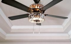 Caged Crystal 5-blade Ceiling Fans