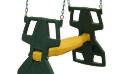 Dual Rider Glider Swings With Soft Touch Rope