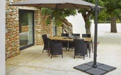 Offset Rectangular Patio Umbrellas
