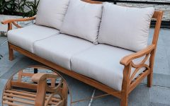 O'kean Teak Patio Sofas with Cushions