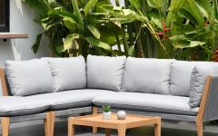Olinda 4 Piece Teak Sectionals Seating Group with Cushions