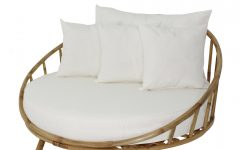 Olu Bamboo Large Round Patio Daybeds with Cushions