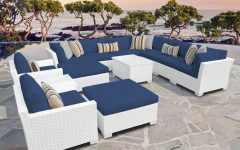 Outdoor 13-piece Wicker Patio Sets with Cushions
