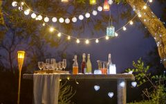 Hanging Outdoor Lights for a Party