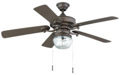 Outdoor Ceiling Fans with Led Globe