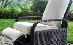 Outdoor Adjustable Rattan Wicker Recliner Chairs With Cushion
