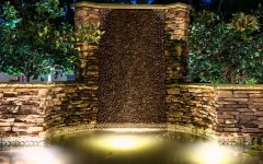 Outdoor Rock Wall Lighting