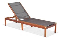 Outdoor Sling Eucalyptus Chaise Loungers
