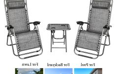 Outdoor Yard Pool Recliner Folding Lounge Table Chairs