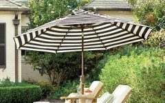 Black and White Striped Patio Umbrellas